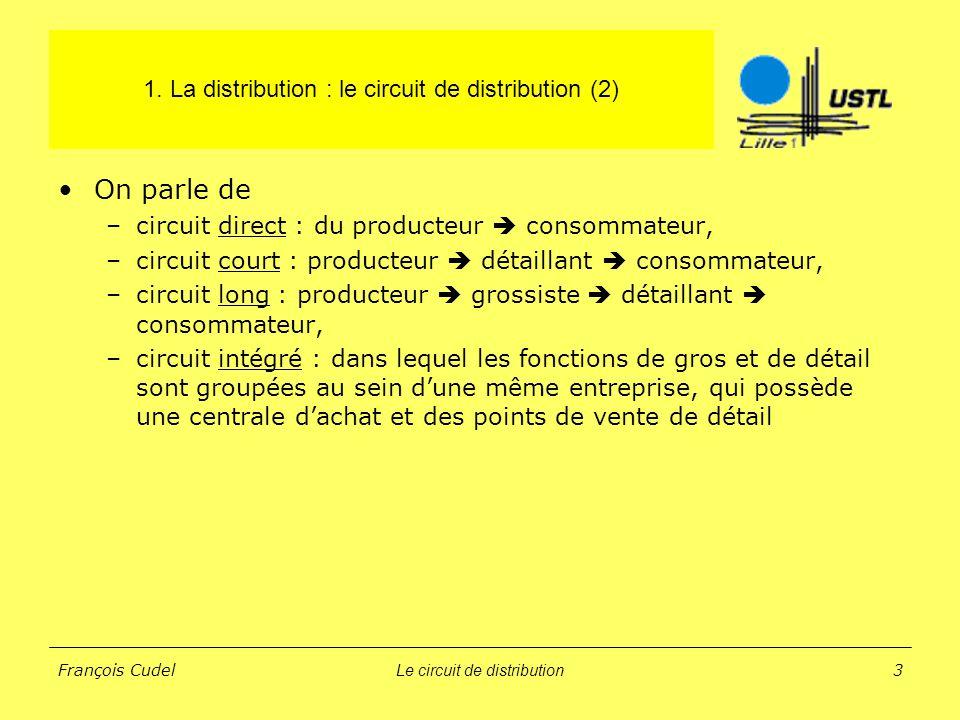 1. La distribution : le circuit de distribution (2)