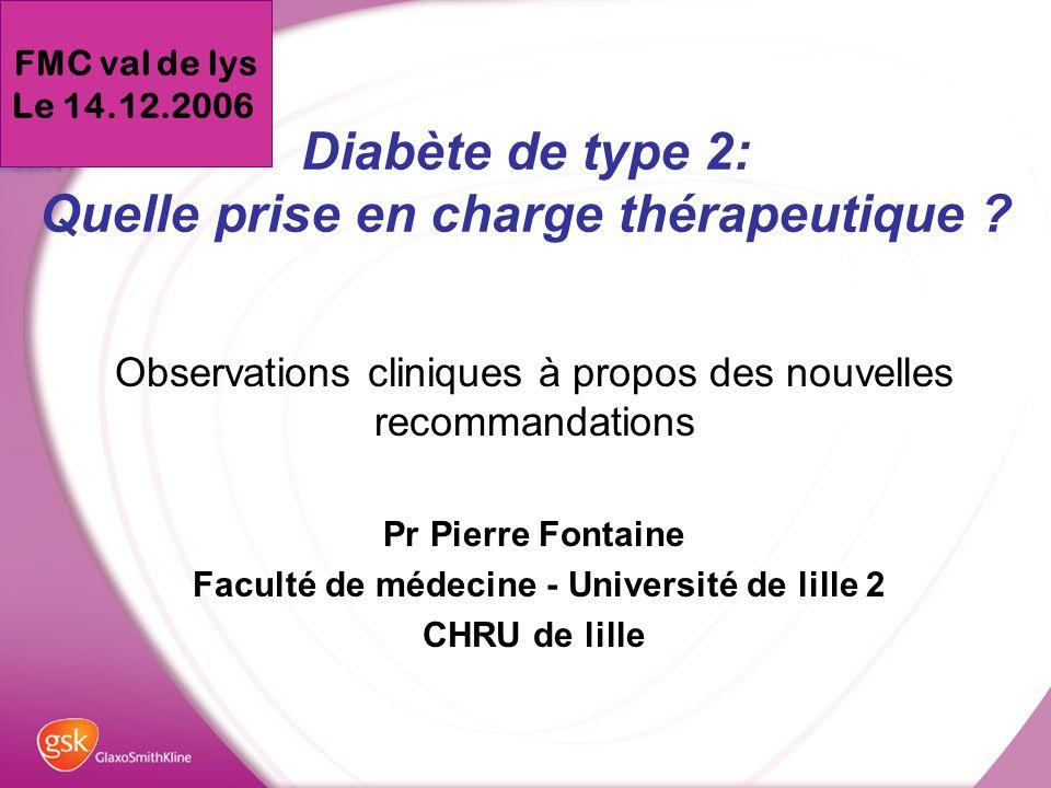 Diabète de type 2: Quelle prise en charge thérapeutique ? - ppt ...