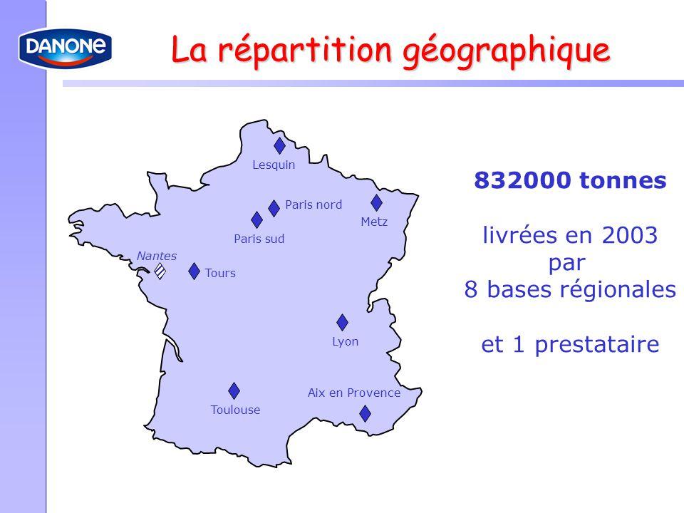 La répartition géographique