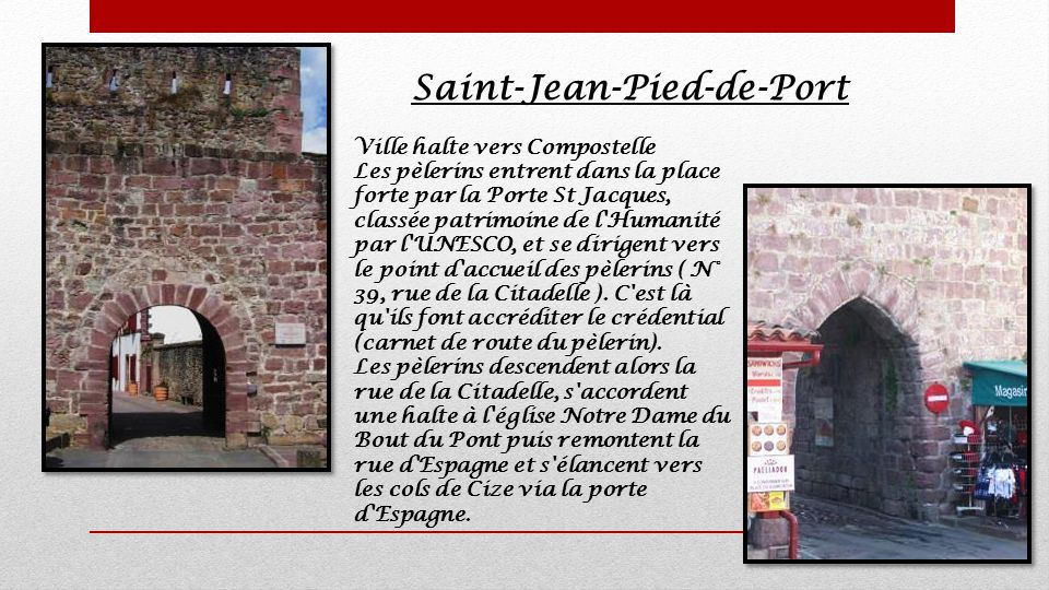 Villages basques c t france ppt t l charger - Auberge du pelerin saint jean pied de port ...