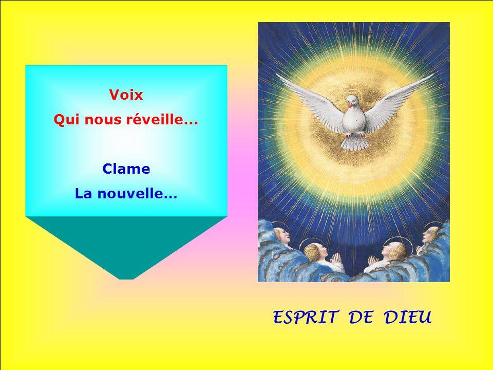 Voix Qui nous réveille... Clame La nouvelle… ESPRIT DE DIEU