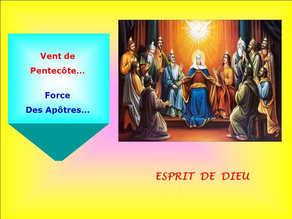 Vent de Pentecôte… Force Des Apôtres… ESPRIT DE DIEU