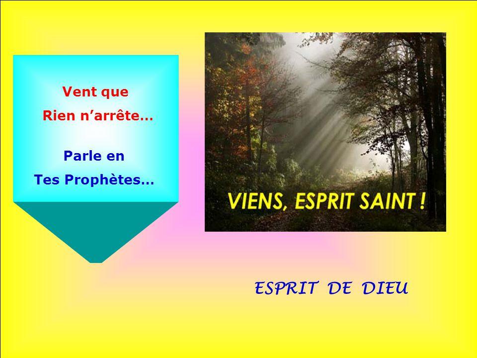 Vent que Rien n'arrête… Parle en Tes Prophètes… ESPRIT DE DIEU