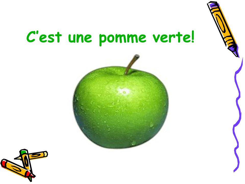 C'est une pomme verte!