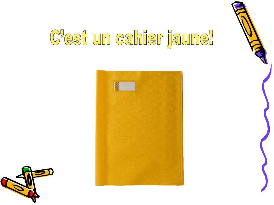 C'est un cahier jaune!