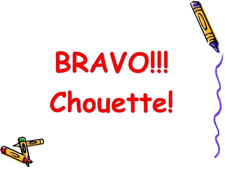 BRAVO!!! Chouette!