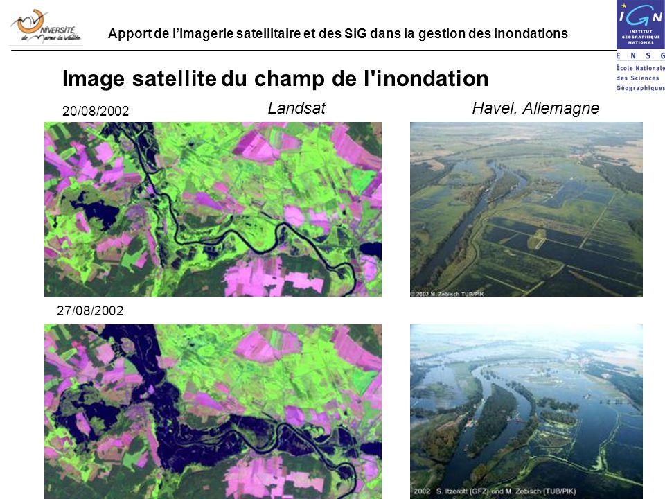 Image satellite du champ de l inondation
