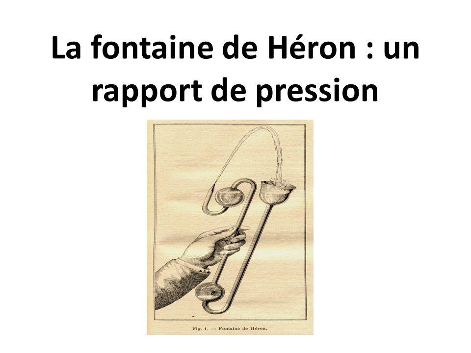 La fontaine de Héron : un rapport de pression