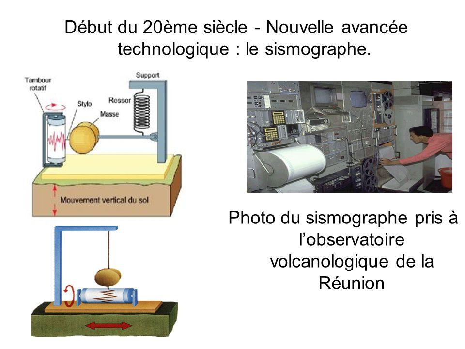 Début du 20ème siècle - Nouvelle avancée technologique : le sismographe.