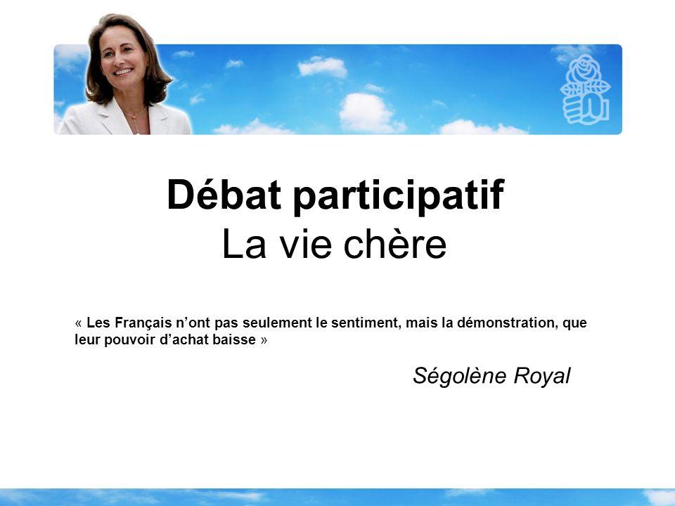 Débat participatif La vie chère