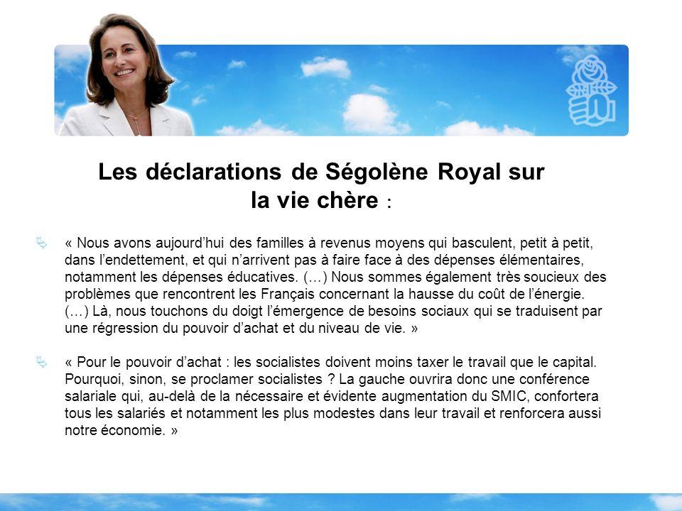 Les déclarations de Ségolène Royal sur