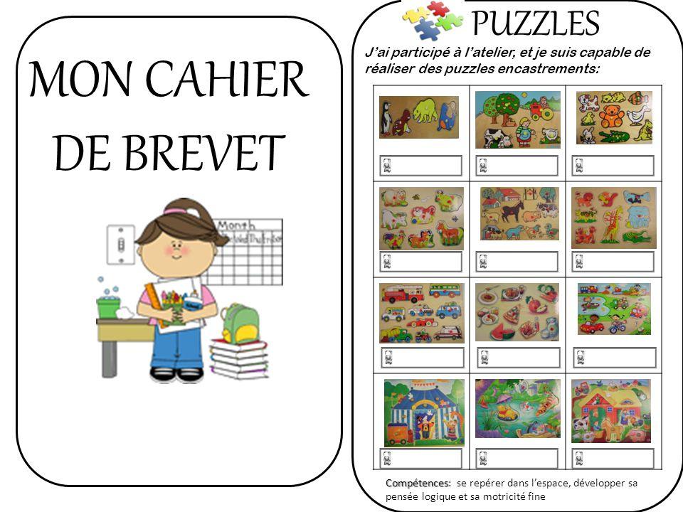 MON CAHIER DE BREVET PUZZLES