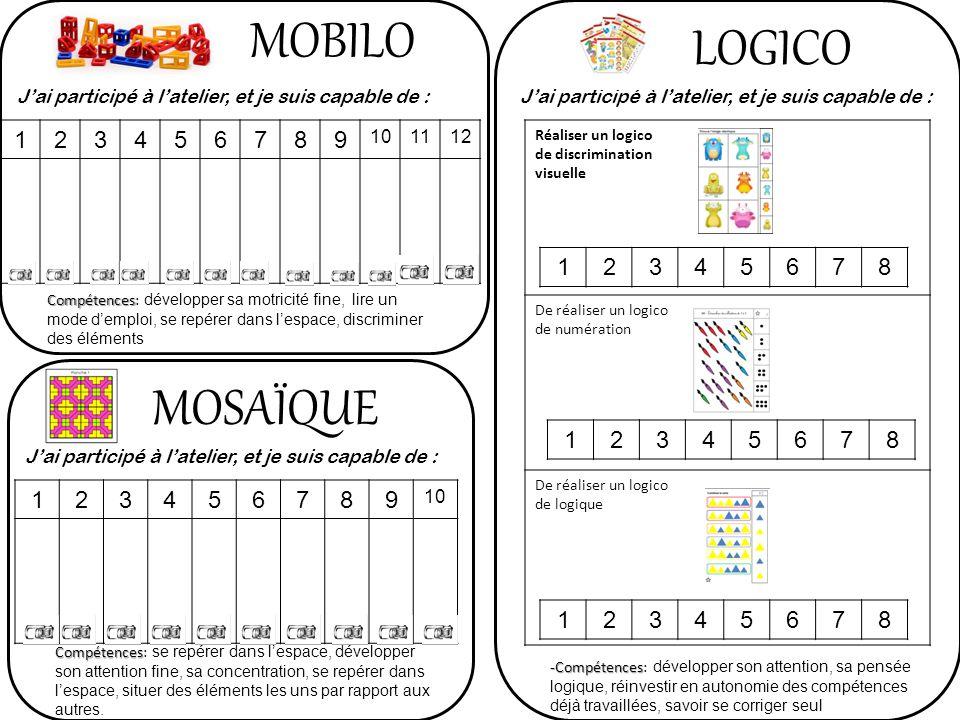 MOBILO LOGICO MOSAÏQUE 1 2 3 4 5 6 7 8 9 1 2 3 4 5 6 7 8 1 2 3 4 5 6 7