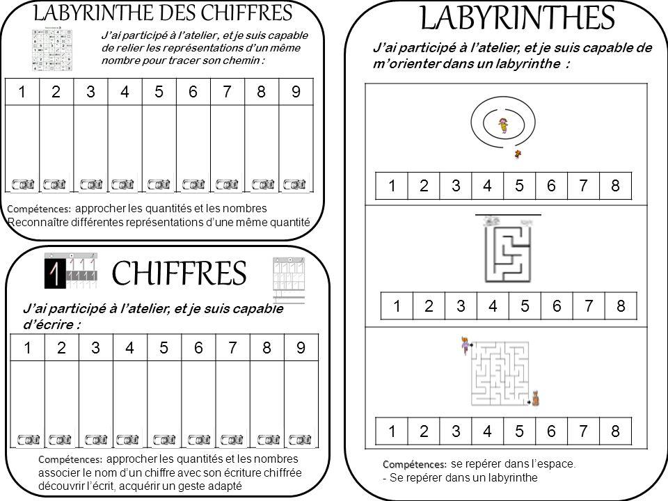 LABYRINTHES CHIFFRES LABYRINTHE DES CHIFFRES 1 2 3 4 5 6 7 8 9 1 2 3 4