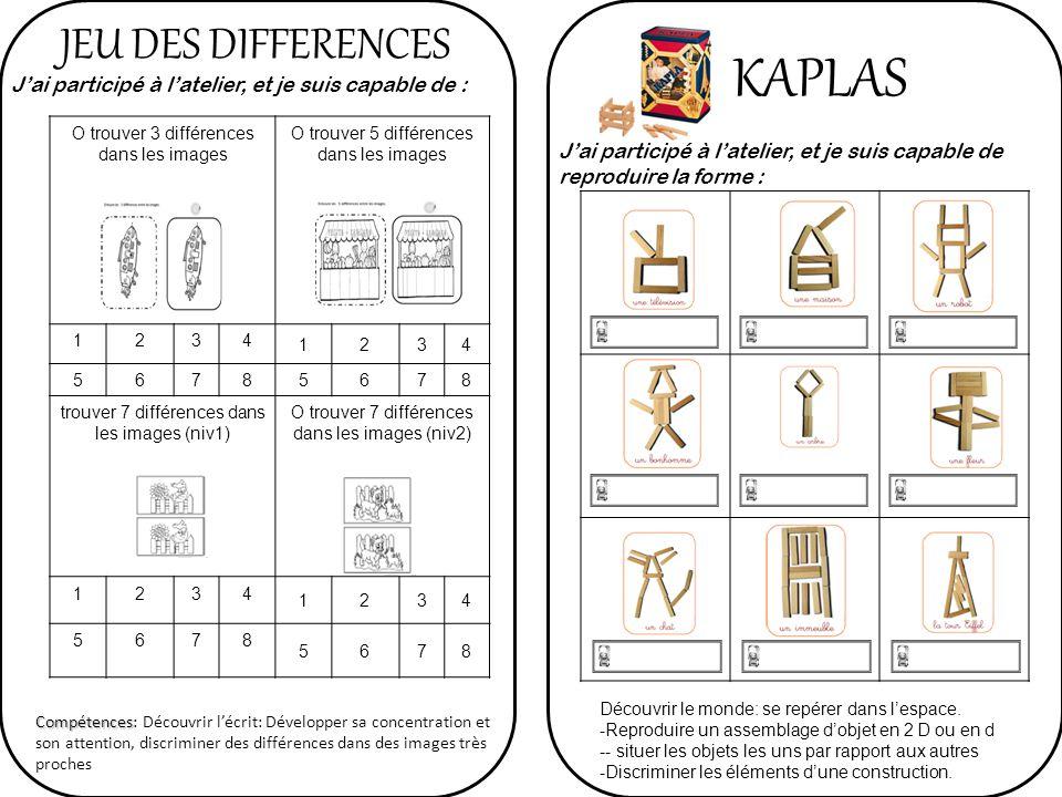 KAPLAS JEU DES DIFFERENCES