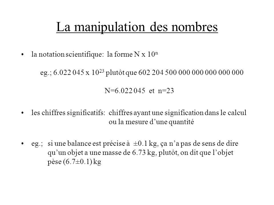 La manipulation des nombres