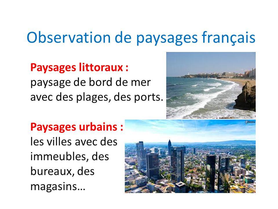 Observation de paysages fran ais ppt video online for Paysage francais