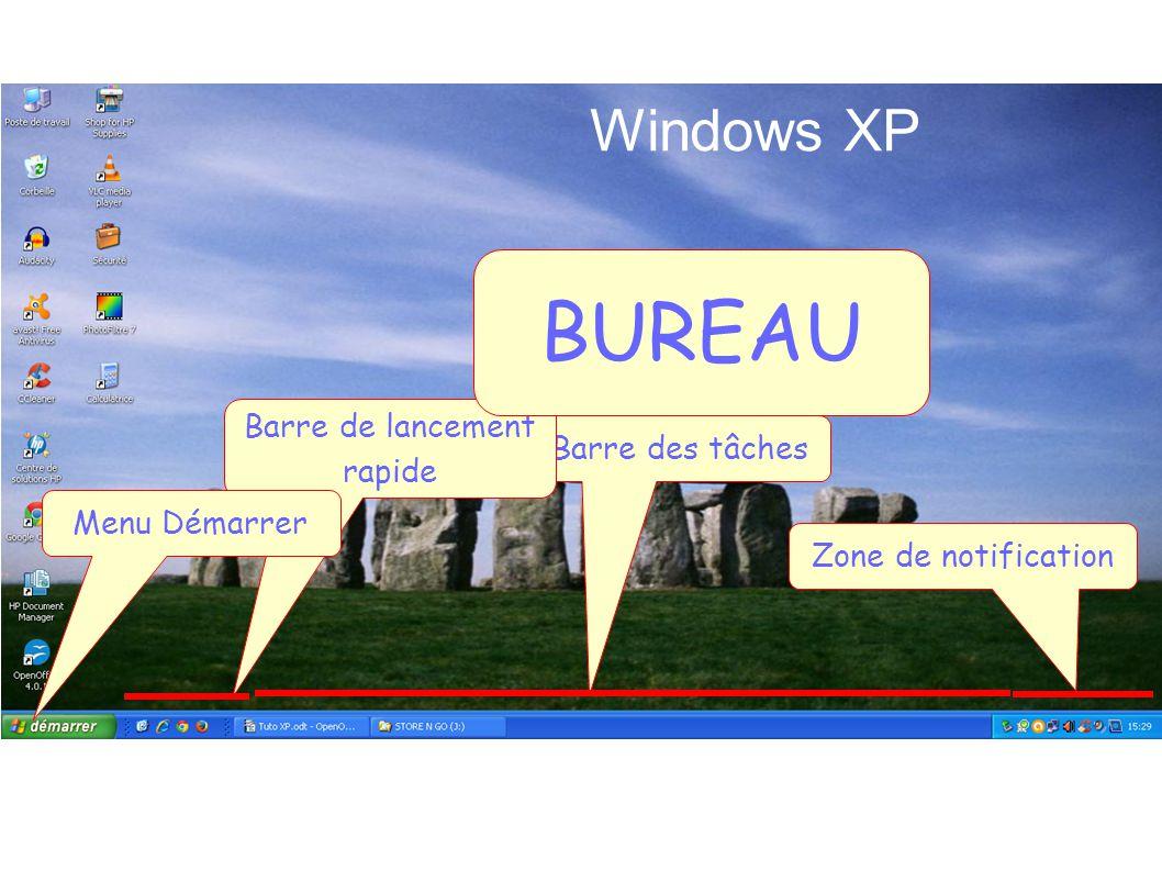 Bureau windows xp barre de lancement rapide barre des tâches ppt
