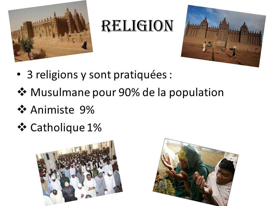 Religion 3 religions y sont pratiquées :