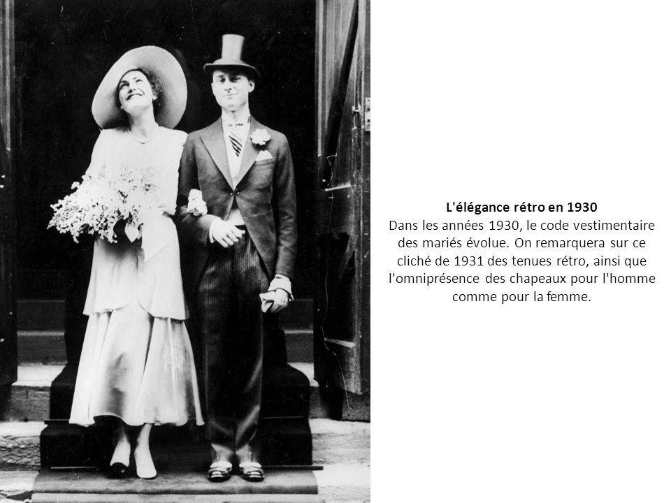 Les plus belles photos de mariage d 39 autrefois ppt video for Code vestimentaire d invitation de mariage