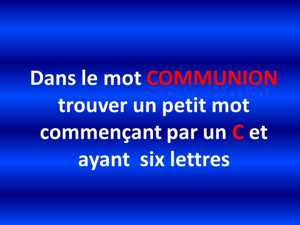 Communion eucharistie ppt t l charger - Mot commencant par phy ...