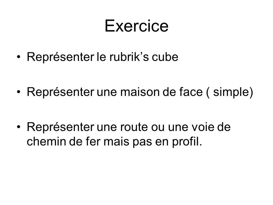 Exercice Représenter le rubrik's cube