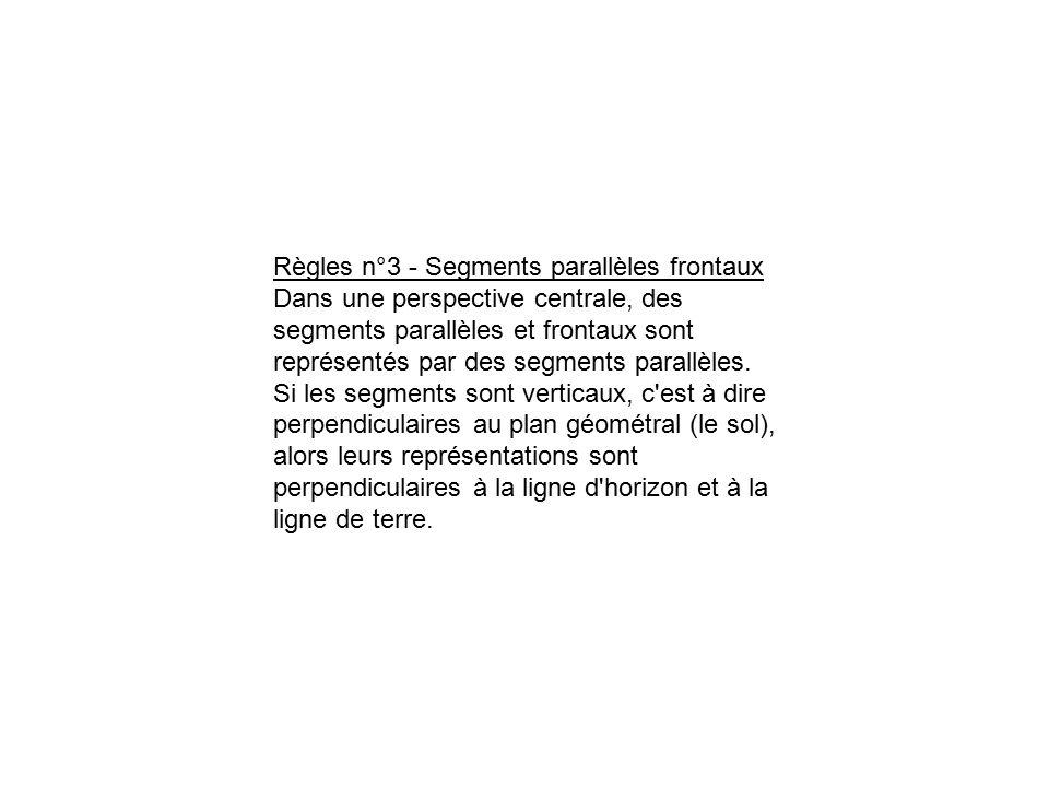 Règles n°3 - Segments parallèles frontaux