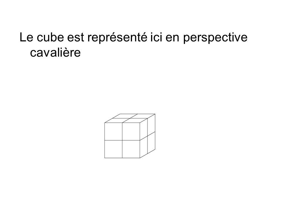 Le cube est représenté ici en perspective cavalière
