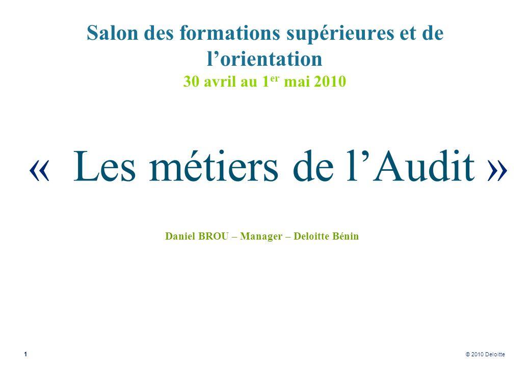 Daniel BROU – Manager – Deloitte Bénin