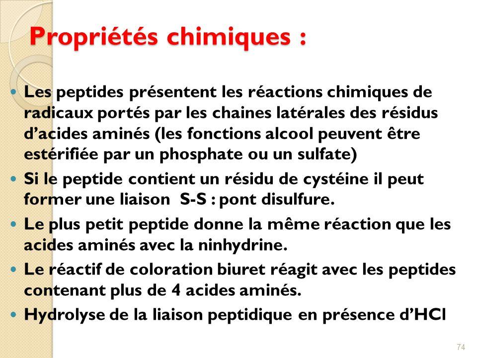 Propriétés chimiques :