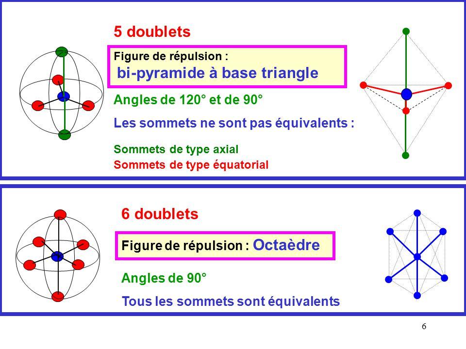 5 doublets 6 doublets Angles de 120° et de 90°