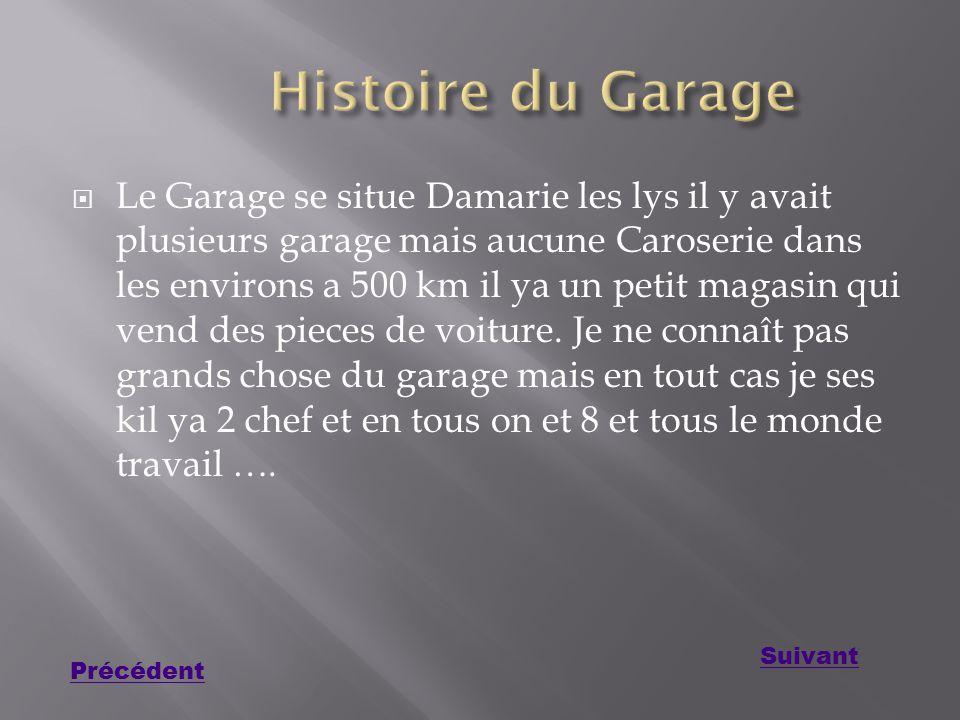 Histoire du Garage
