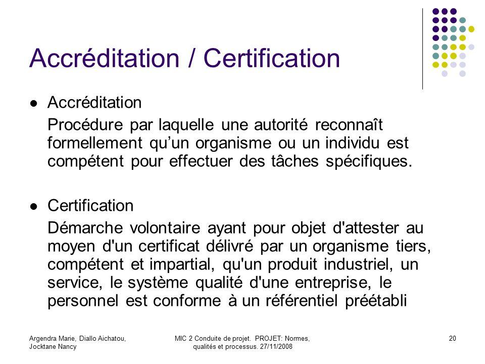 Accréditation / Certification