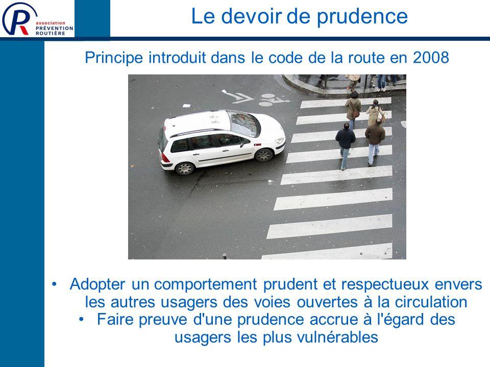 Principe introduit dans le code de la route en 2008