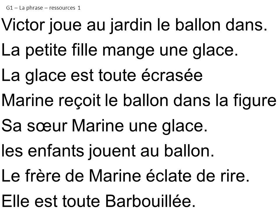 Favori G1 – La phrase - texte Victor le maladroit - ppt télécharger TO79