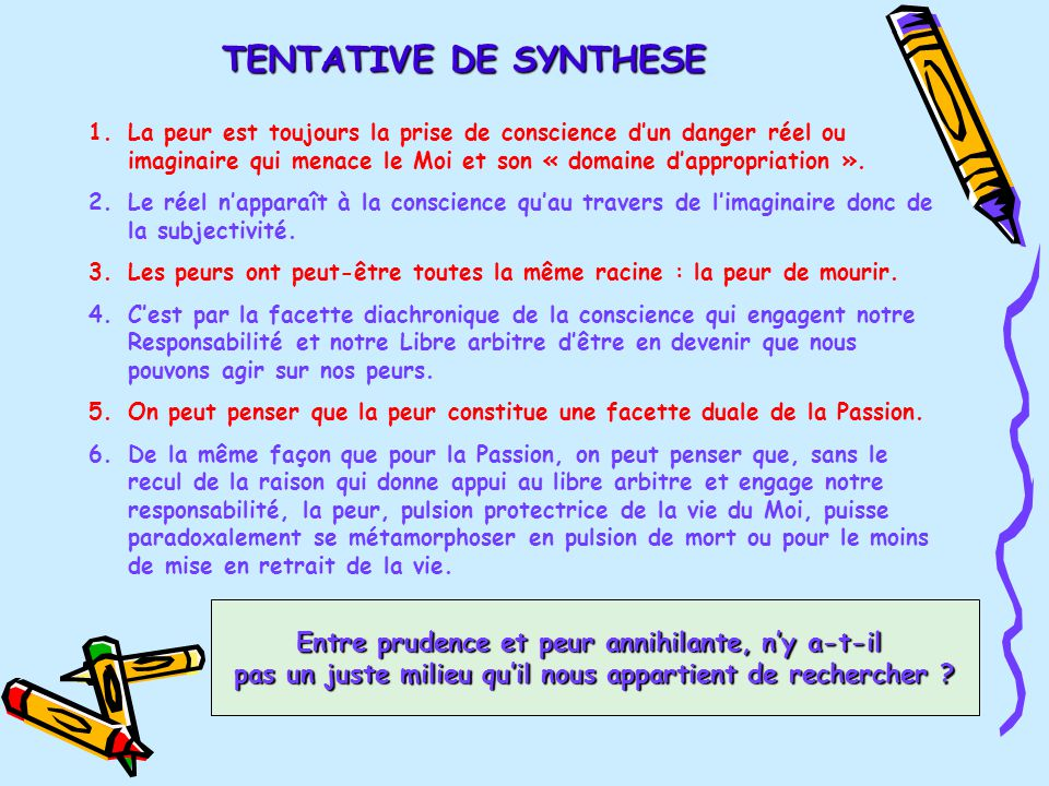 Peur plan 1 etymologie d finitions 2 notions concepts - Peut on mourir en se coupant les veines ...