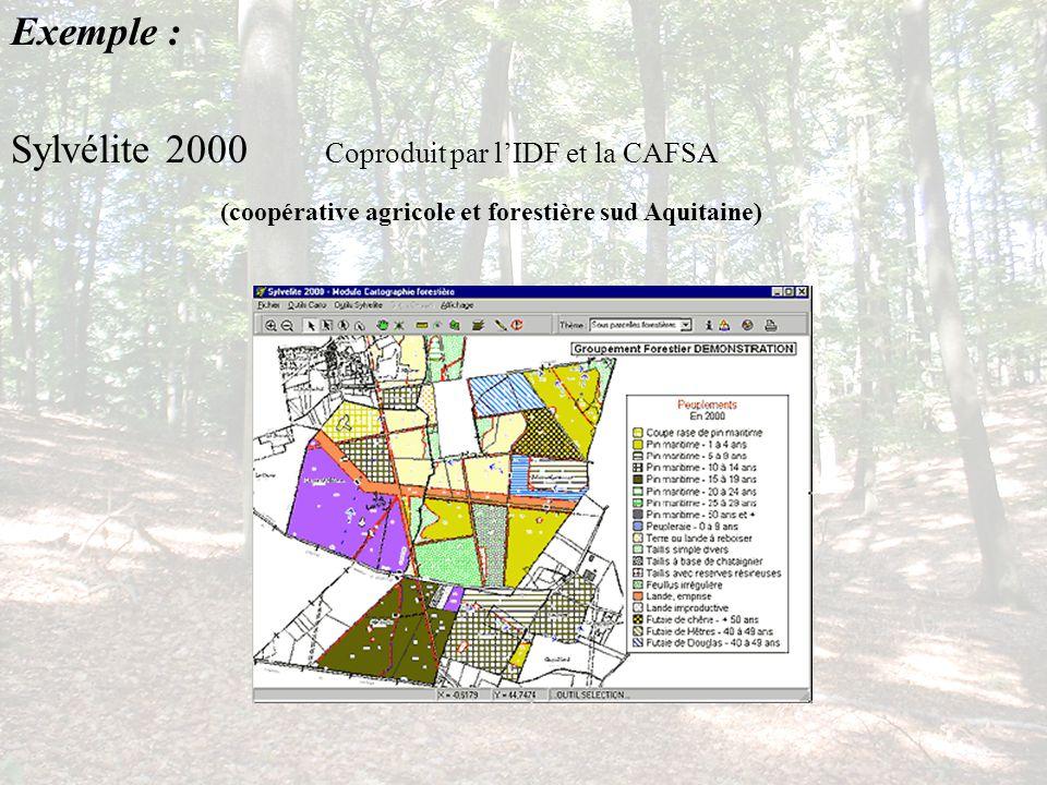 Exemple : Sylvélite 2000 Coproduit par l'IDF et la CAFSA.