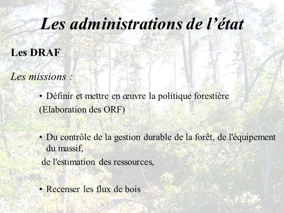 Les administrations de l'état
