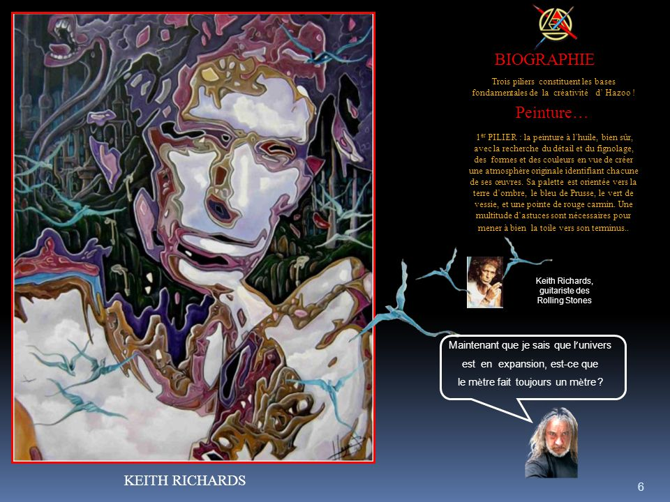 BIOGRAPHIE Peinture… KEITH RICHARDS
