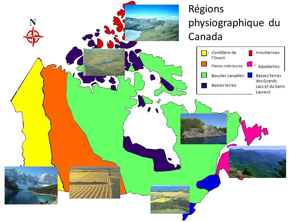Landforms Régions physiographique du Canada Cordillière de l'Ouest