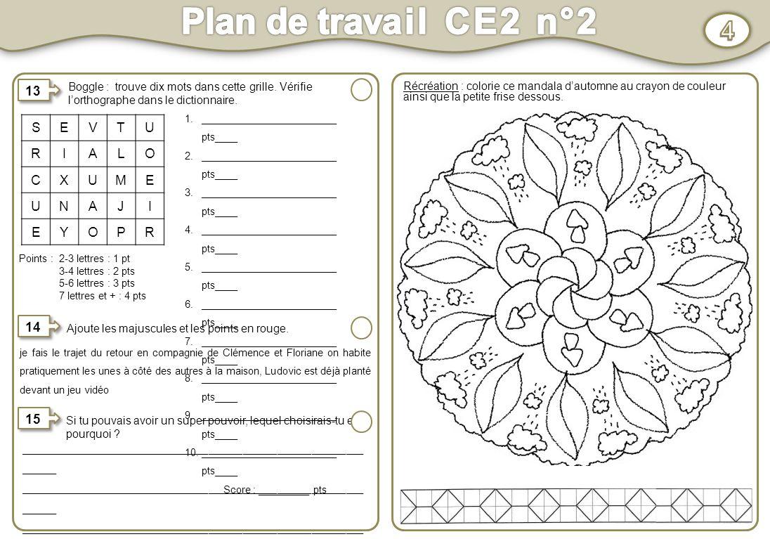Choix Plan De Travail : Plan de travail ce n° activités au choix