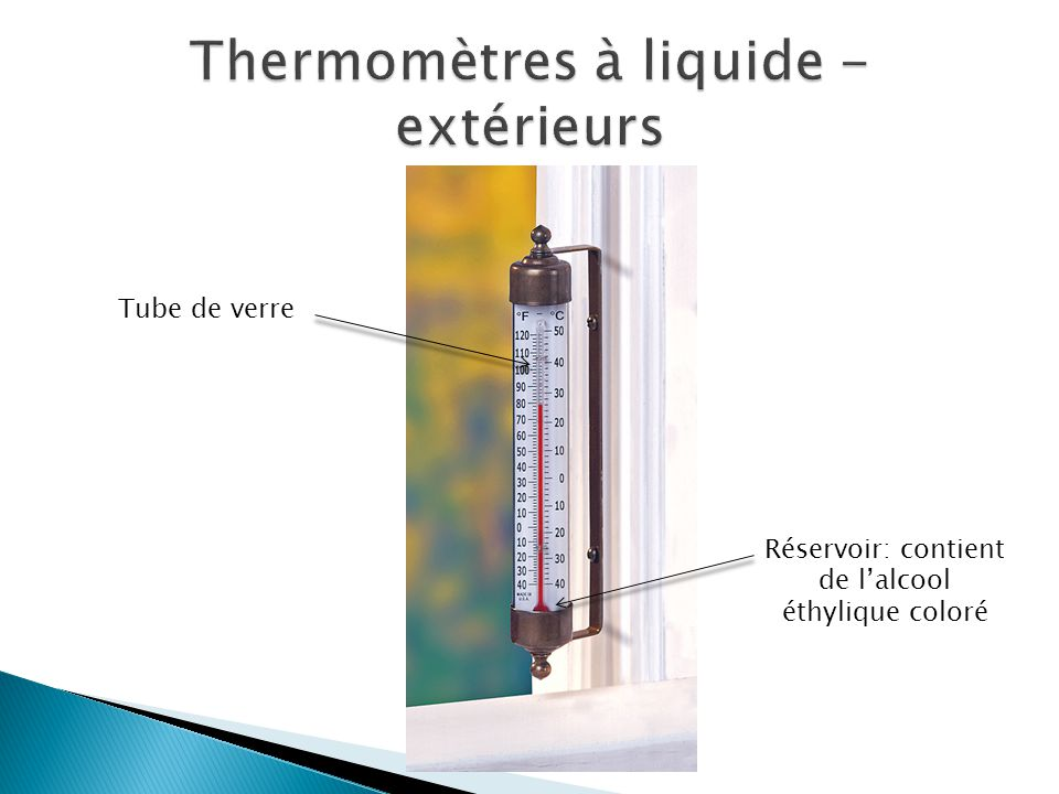 Comment les thermom tres fonctionnent ppt t l charger for Thermometres exterieurs
