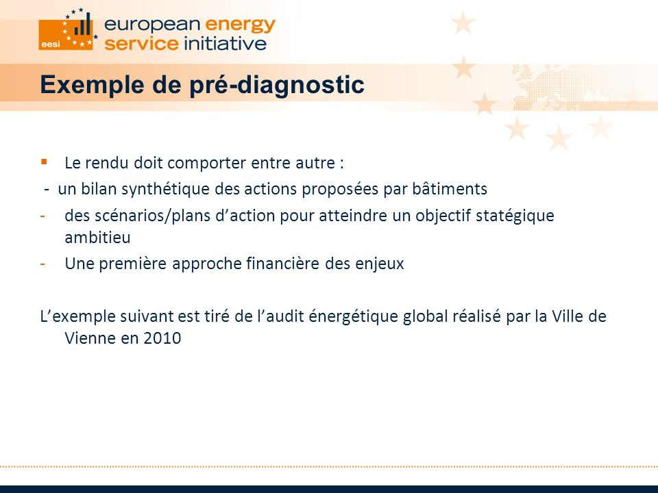 Exemple de pré-diagnostic
