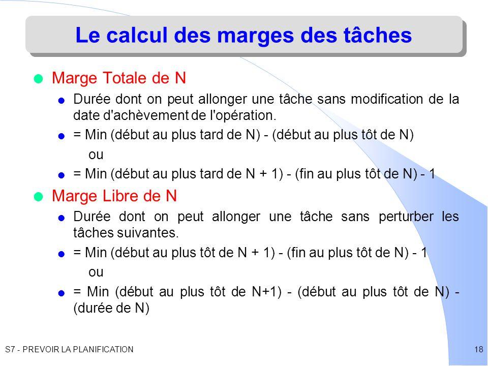 7 1 a quoi sert la gestion de projet ppt tlcharger le calcul des marges des tches ccuart Images