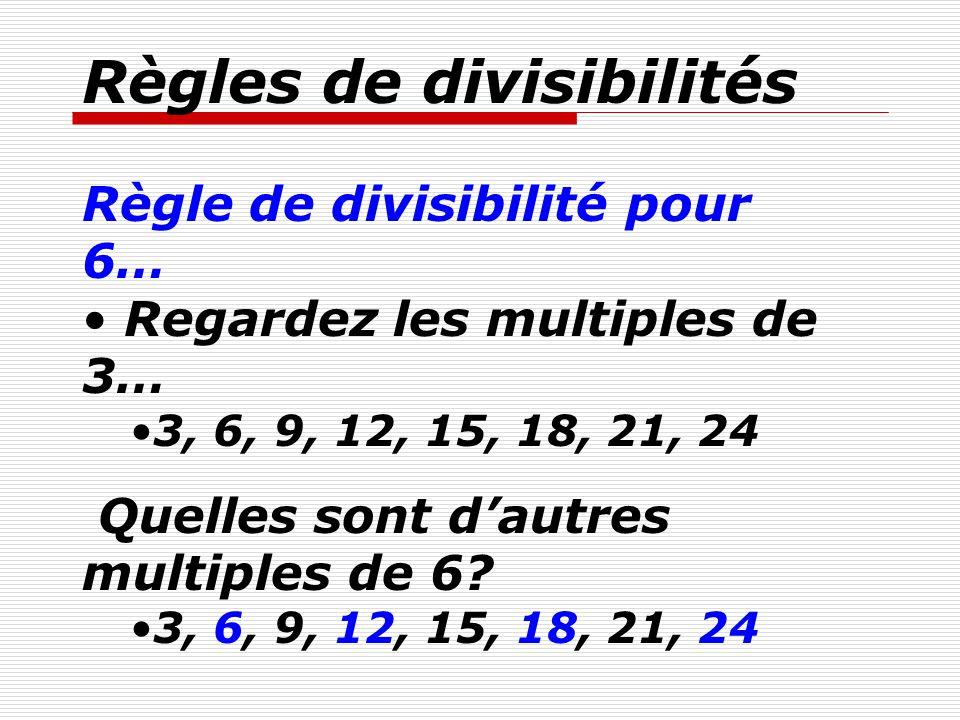 Math r gles de divisibilit s ppt video online t l charger for Les multiples de 6