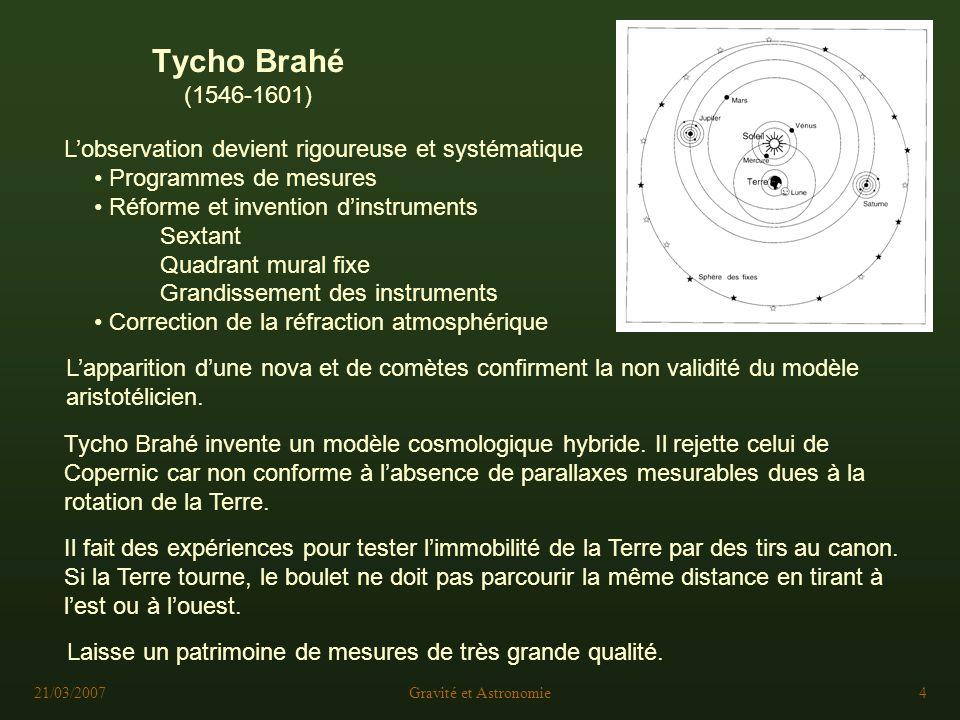 La gravitation en astronomie ppt t l charger for Tycho brahe mural quadrant