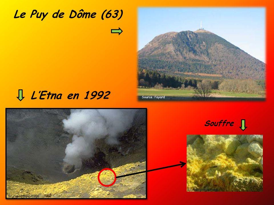 Le Puy de Dôme (63) L'Etna en 1992 Souffre Source : Fayard
