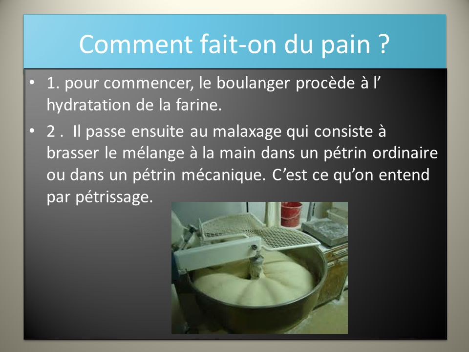 Comment fait-on du pain