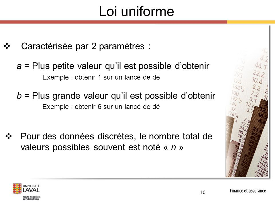 6 concepts probabilistes et distributions de for Loi uniforme
