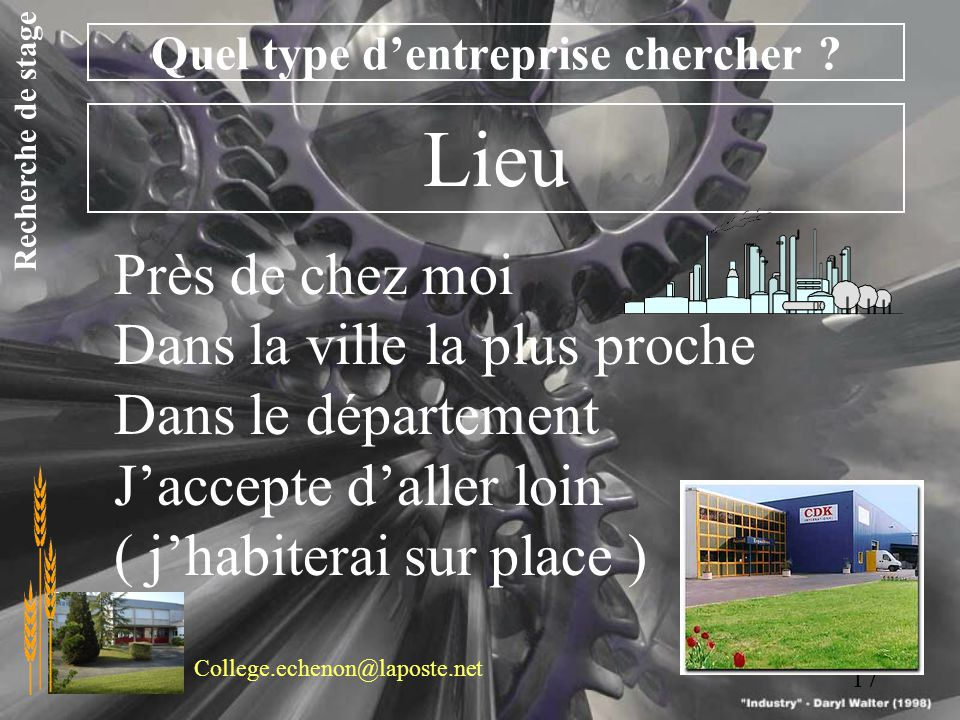 Stage en entreprise ppt video online t l charger for Garage le plus proche de chez moi